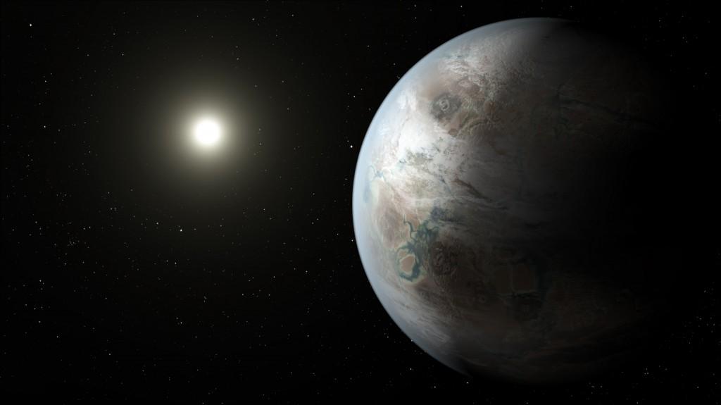 Така вероятно изглежда новооткритата планета Kepler-452b. Илюстрация: НАСА